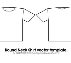 Round Neck Shirt Template