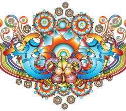 Psychedelic Vector Background Design