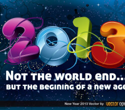 Happy New Year 2013 Vector Background Illustration
