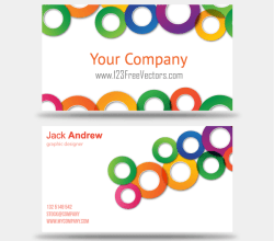 Colorful Business Card Vector Templates