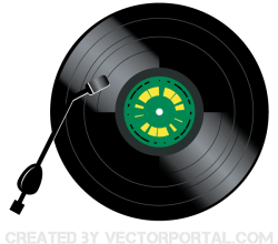 Vector Vintage Vinyl Record Player
