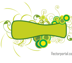 Green Abstract Floral Banner Image