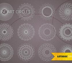 Vector Line Art Circle Design Elements Free