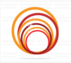 Free Vector Orange Creative Symbol