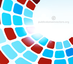 Abstract Tiles Background in Circular Design
