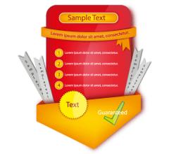 Red Website Sticker Vector Element