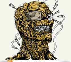 Free Vector Apparel Tshirt Design With Demon Man
