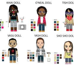 Free Pop Art Series – StarRock Doll Vector