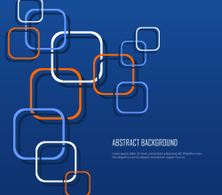 Abstract Rounded Squares Background Vector Image