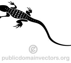 Lizard Silhouette Image