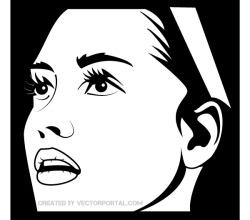 Vector Image of Nun