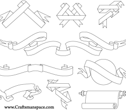 Ribbons and Scrolls Illustrator Vector Pack
