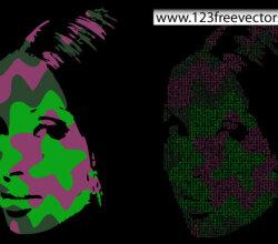 Pop Art Face Vector