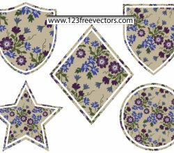 Flower Badges Vector