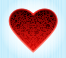 Vector Abstract Ornamental Heart Design
