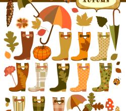 Vector Autumn Elements
