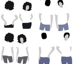 Free T-shirt Mockup Templates Vector