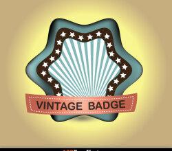 Retro Vintage Badge Vector