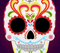 Day of the Dead Sugar Skull Vector Art