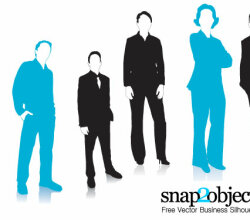 Free Business Women Vector Silhouettes