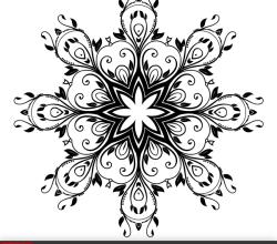 Vector Floral Ornate Decorative Element