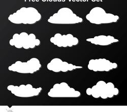 Free Cloud Vector Graphics