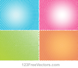 Abstract Colorful Halftone Illustrator Backgrounds
