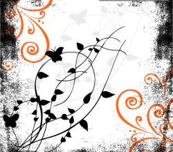 Vector Grunge Floral Illustration