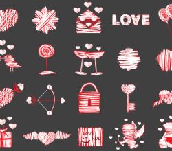 Love Vector Elements Illustrator Pack