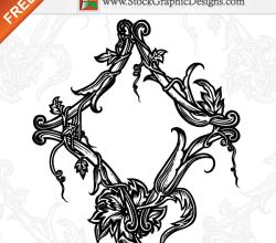 Beautiful Ornamental Floral Free Vector Art Illustration