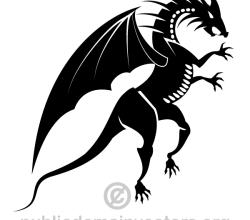 Dragon Silhouette Vector Image