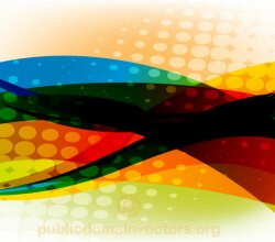 Vector Colorful Abstract Background with Halftone Element
