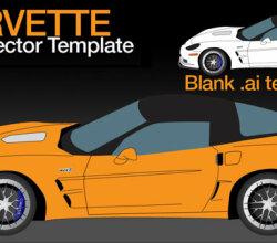 Corvette ZR1 Vector Template
