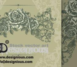 Free Vector Vintage Floral Illustration