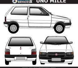 Fiat Uno Mille Vector Art