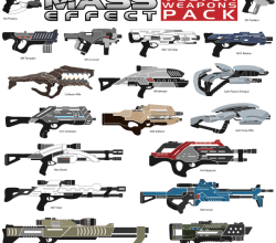Mass Effect Weapons Vector Pack