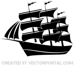 Vector Sailboat Silhouette