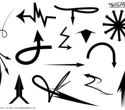 Free Arrows Vector Set 8