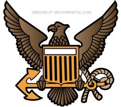 Eagle Crest Emblem Vector Art