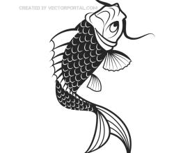 Vector Japanese Koi Fish
