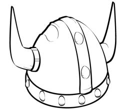Viking Helmet Vector Art
