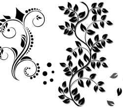 Floral Ornament Vector Graphics Free