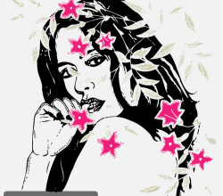 Women With Flowers Vector