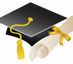 Free Vector Graduation Cap and Diploma