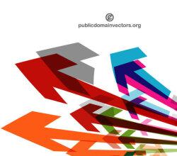 Vector Colorful Arrows