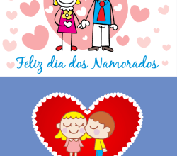 Vector Valentine's Day Card with Love Couples