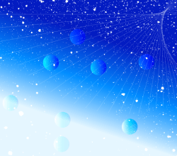 Abstract Blue Splatter Vector Background