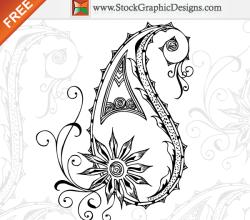 Hand Drawn Paisley Free Vector Elements