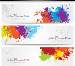Colorful Splash Banner Vector