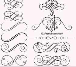 Vintage Calligraphic Vector Ornaments